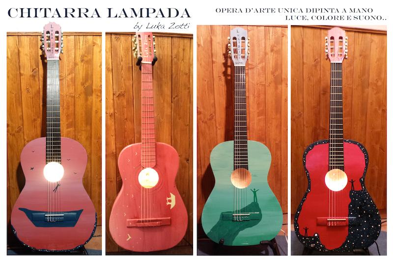 Chitarra Lampada - Opere d'arte di Luka Zotti